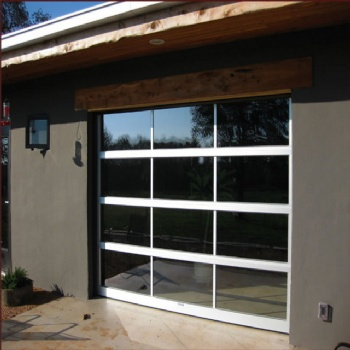 Full View Tempered Glass Garage Door With Insulated Aluminum Frames
